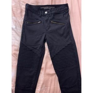 American Eagle HiRise Jeggings with Gold Accents